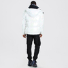 Oversized Dongguan Clothing Polyester Iridescent Hooded Puffer Jacket