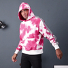Custom Mens Cotton French Terry Reflective Tie Dye Hoodie